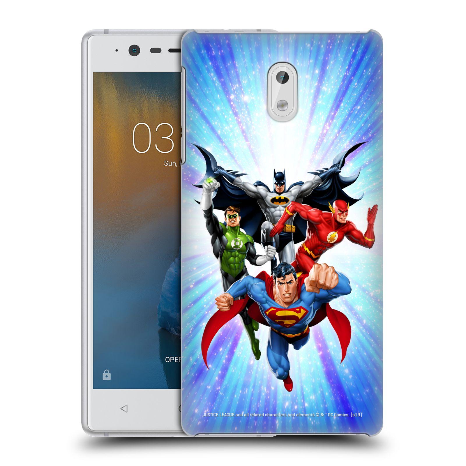 Pouzdro na mobil Nokia 3 - HEAD CASE - DC komix Liga Spravedlivých hrdinové
