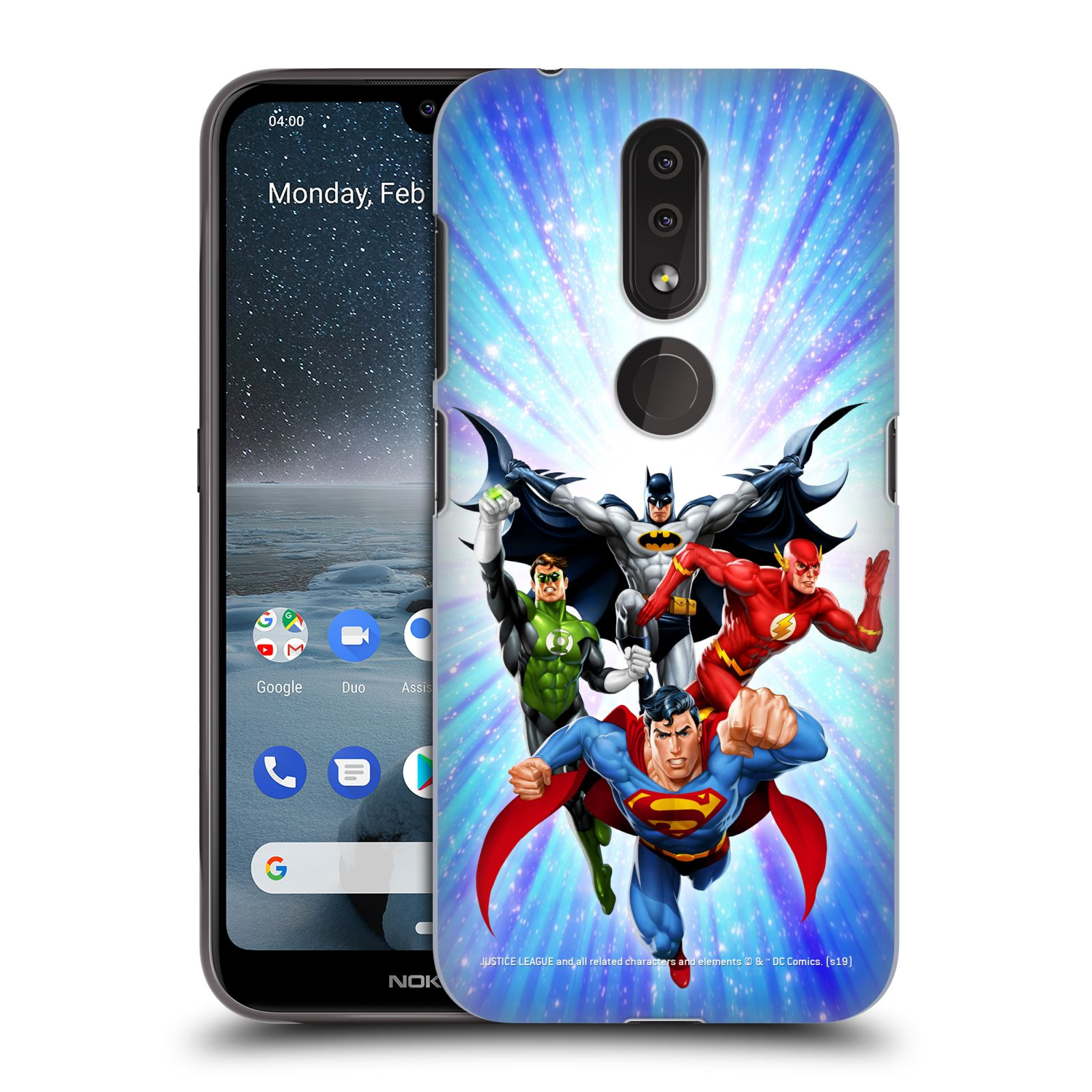 Pouzdro na mobil Nokia 4.2 - HEAD CASE - DC komix Liga Spravedlivých hrdinové