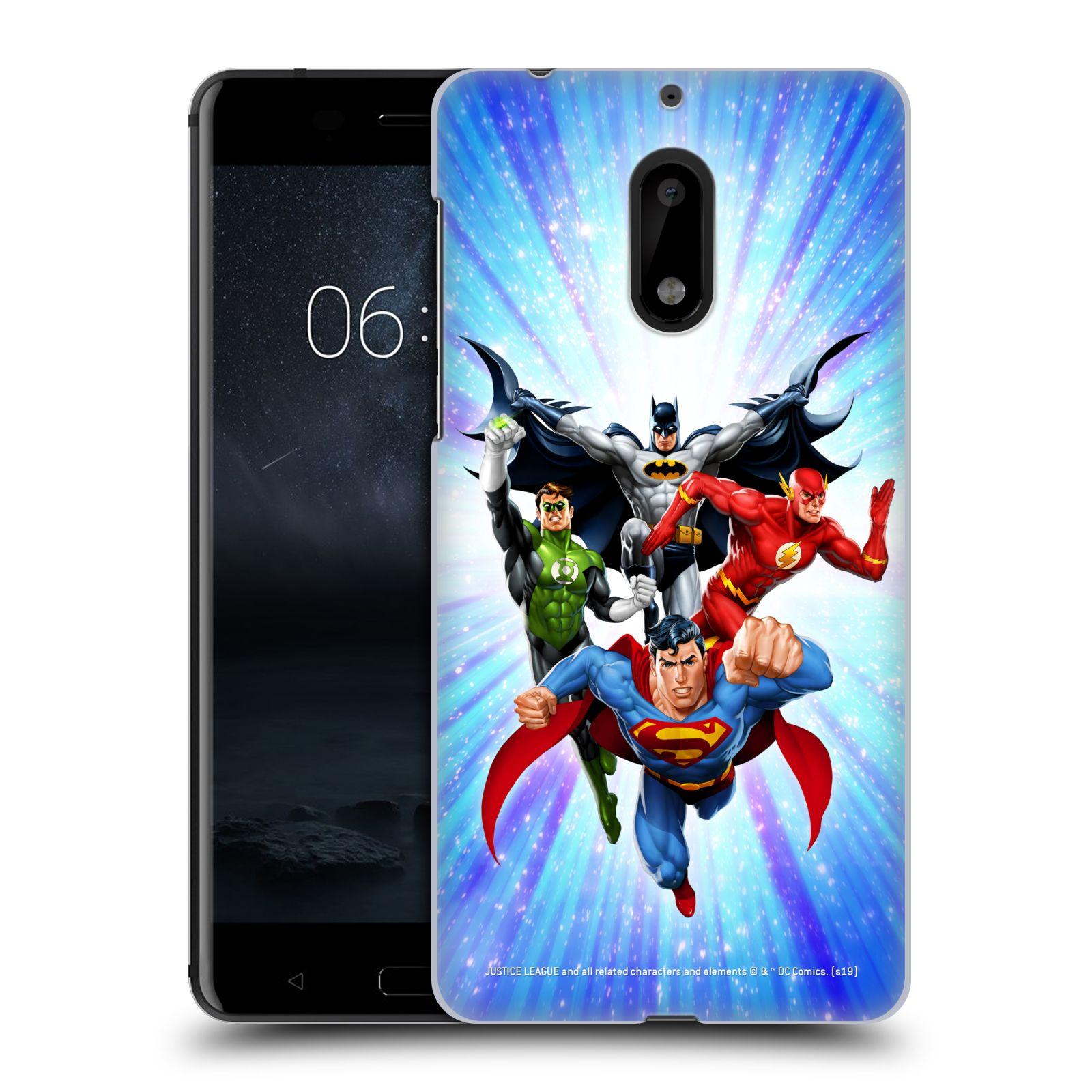 Pouzdro na mobil Nokia 6 - HEAD CASE - DC komix Liga Spravedlivých hrdinové