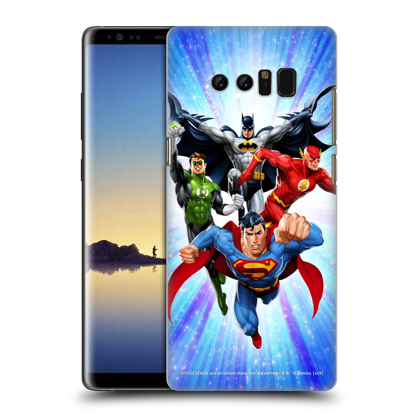 Pouzdro na mobil Samsung Galaxy Note 8 - HEAD CASE - DC komix Liga Spravedlivých hrdinové