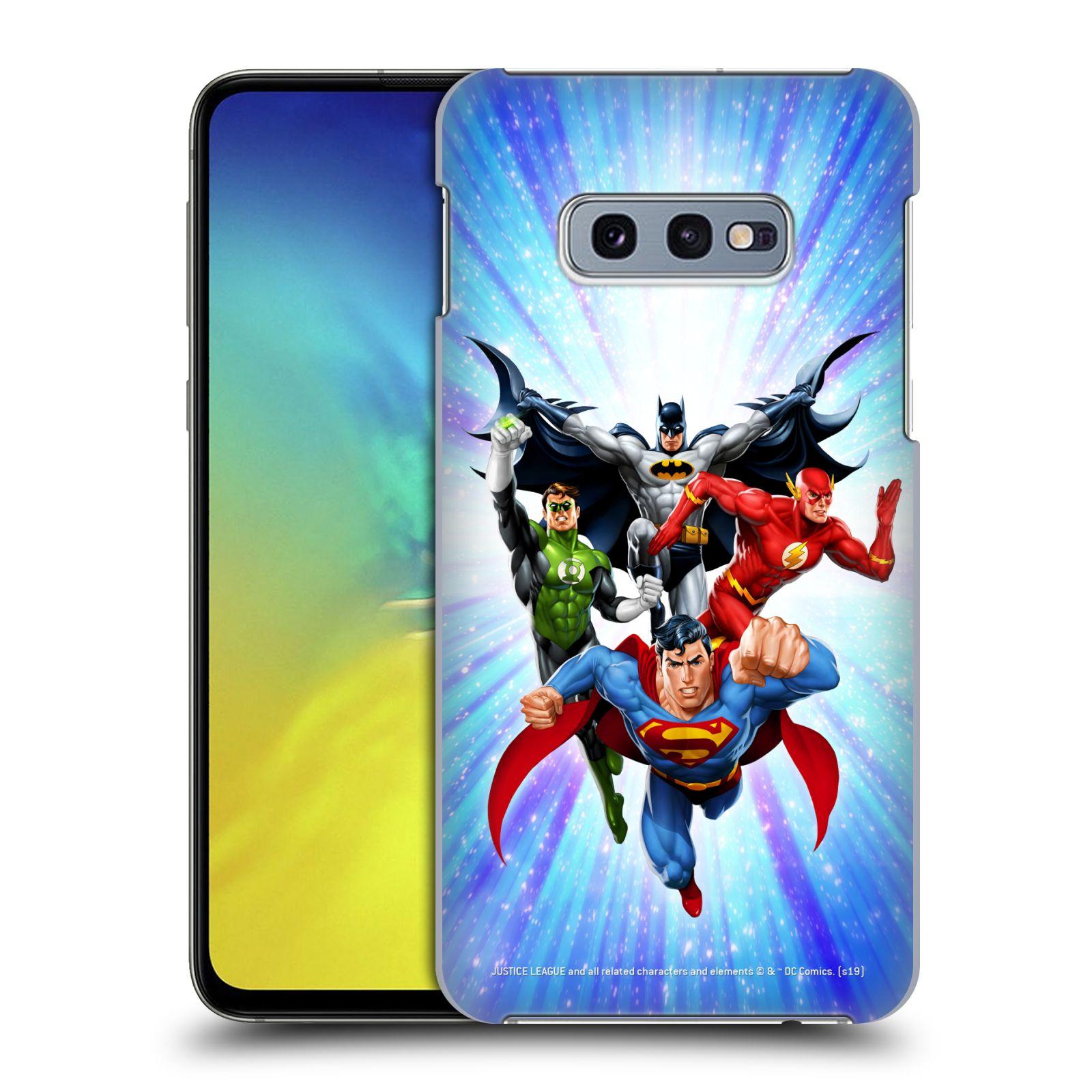 Pouzdro na mobil Samsung Galaxy S10e - HEAD CASE - DC komix Liga Spravedlivých hrdinové