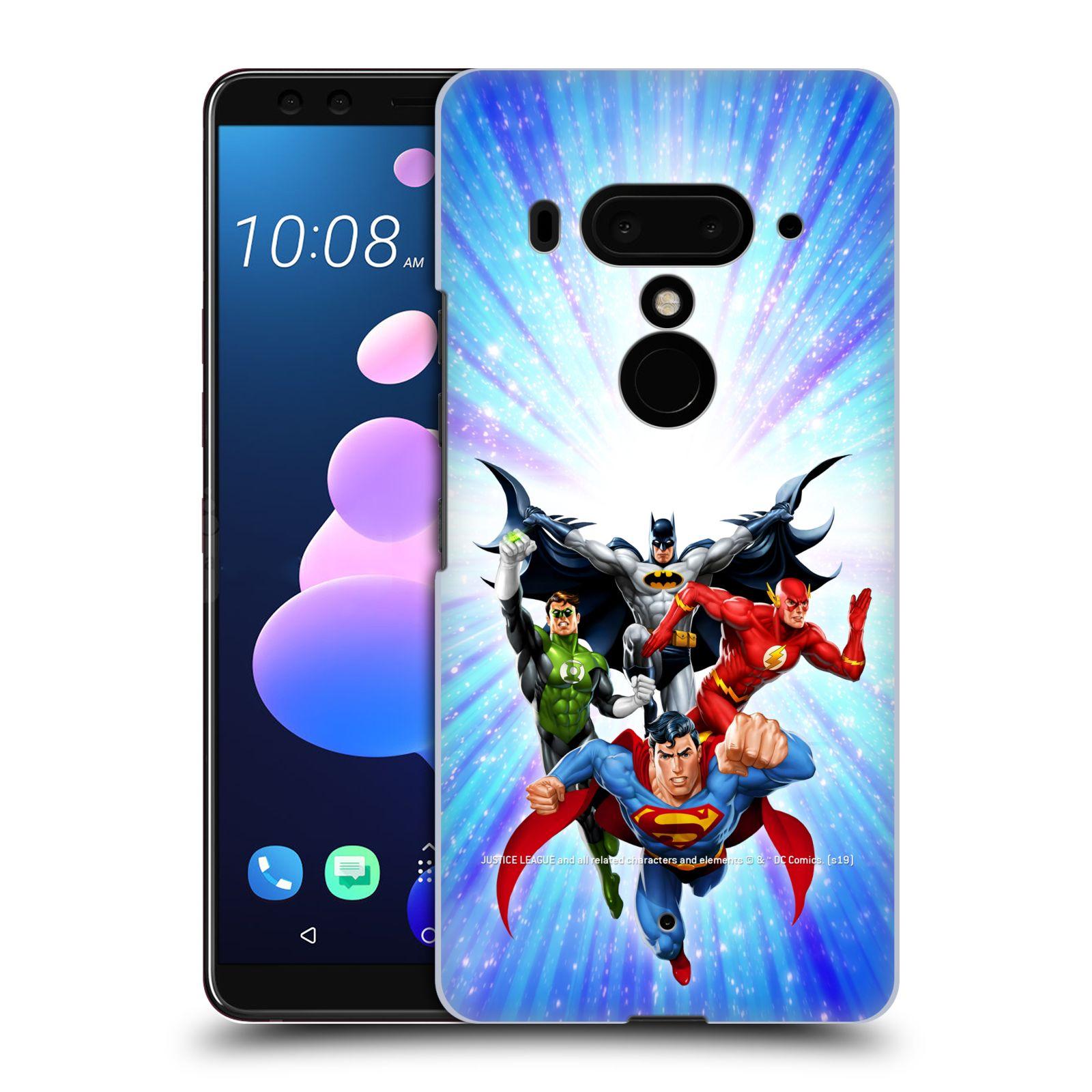 Pouzdro na mobil HTC U 12 PLUS / U 12+ DUAL SIM - HEAD CASE - DC komix Liga Spravedlivých hrdinové