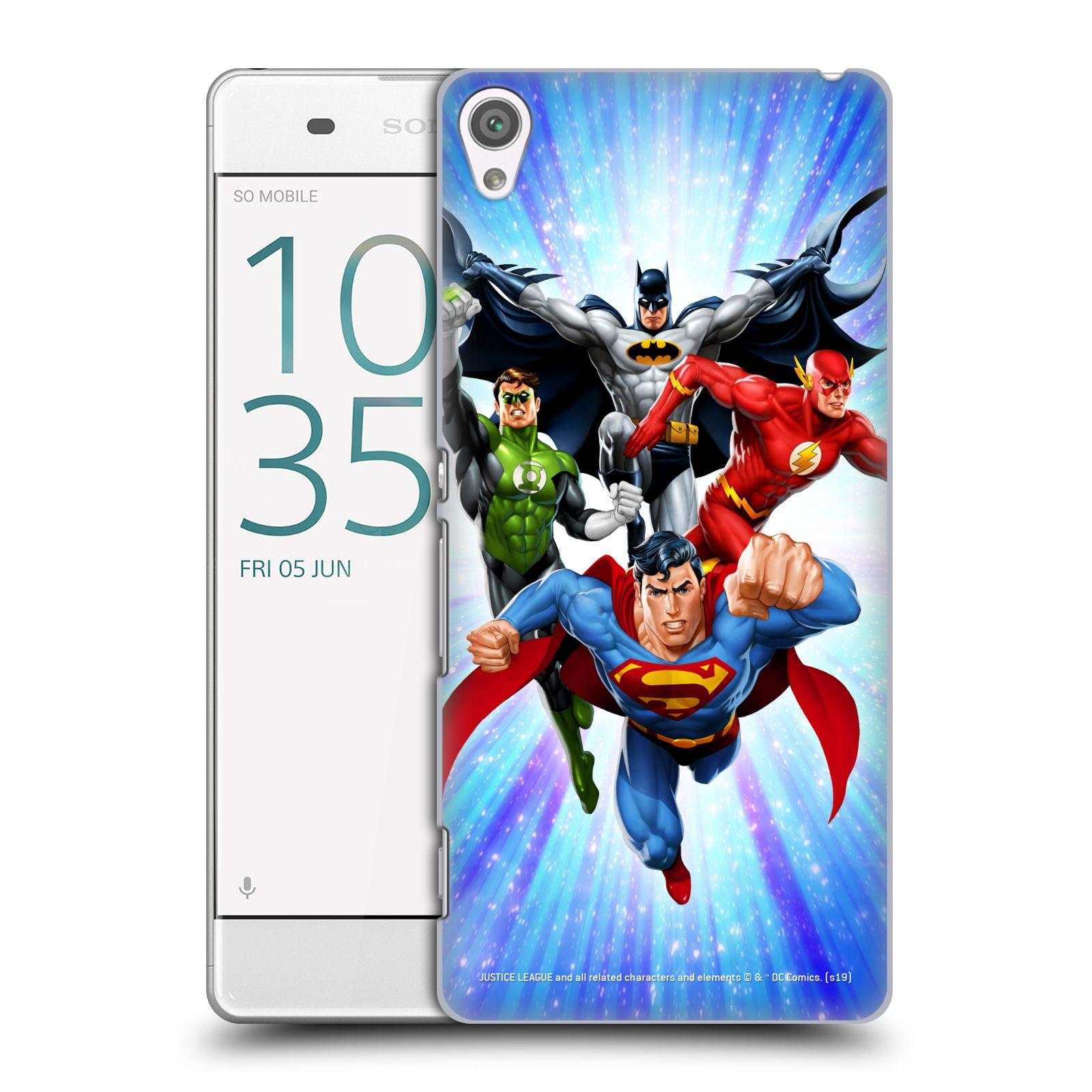 Pouzdro na mobil Sony Xperia XA - HEAD CASE - DC komix Liga Spravedlivých hrdinové
