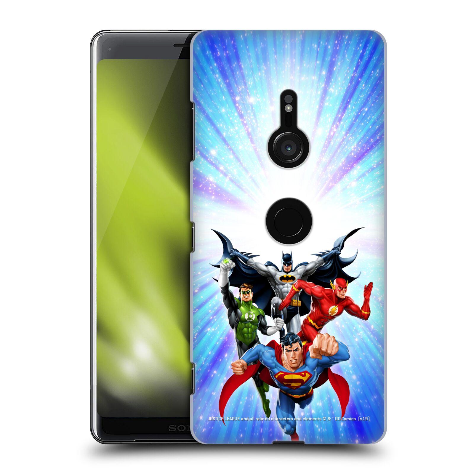 Pouzdro na mobil Sony Xperia XZ3 - HEAD CASE - DC komix Liga Spravedlivých hrdinové