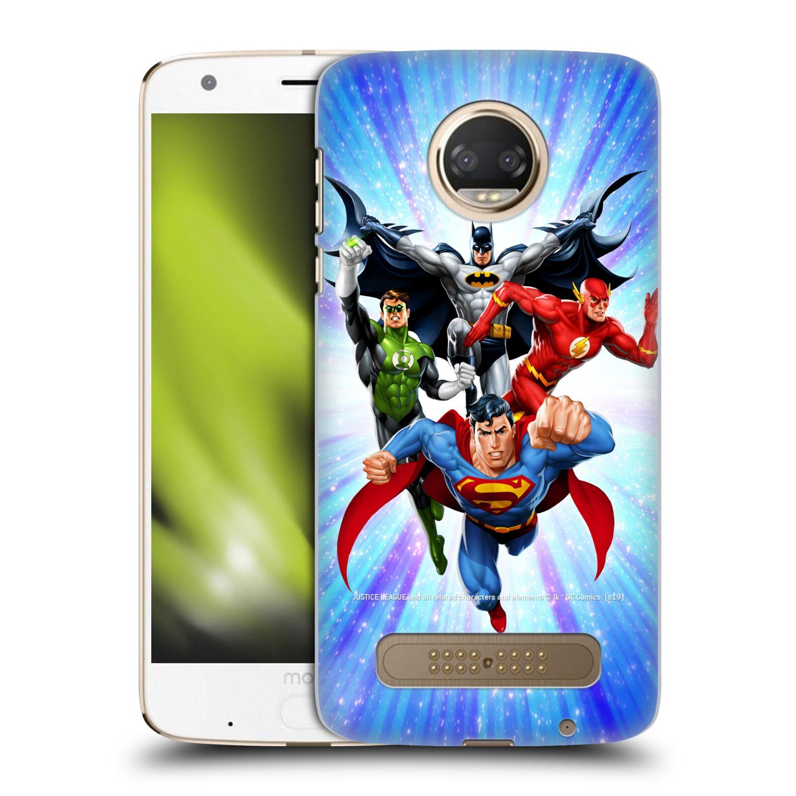 Pouzdro na mobil Motorola Moto Z2 PLAY - HEAD CASE - DC komix Liga Spravedlivých hrdinové