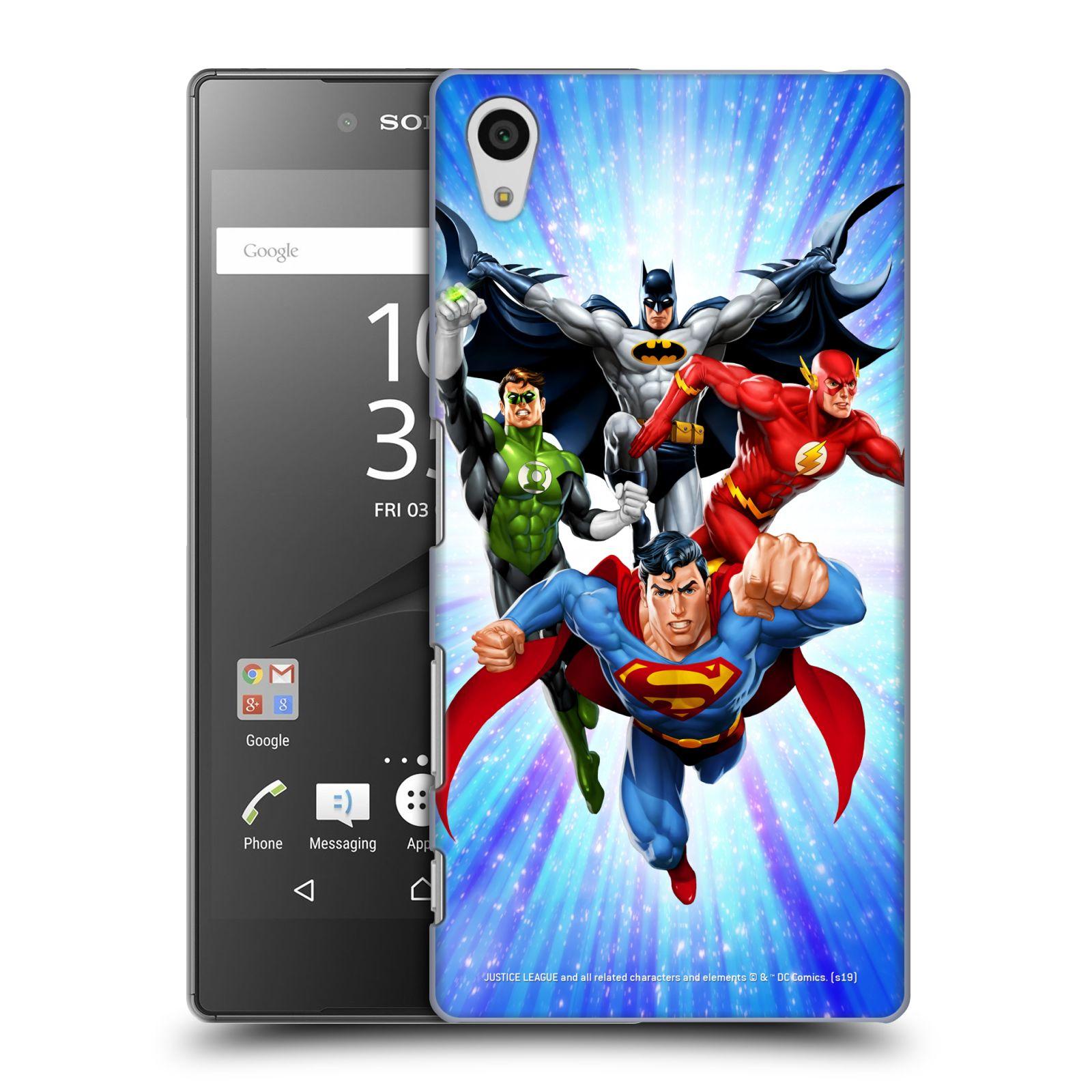 Pouzdro na mobil Sony Xperia Z5 - HEAD CASE - DC komix Liga Spravedlivých hrdinové