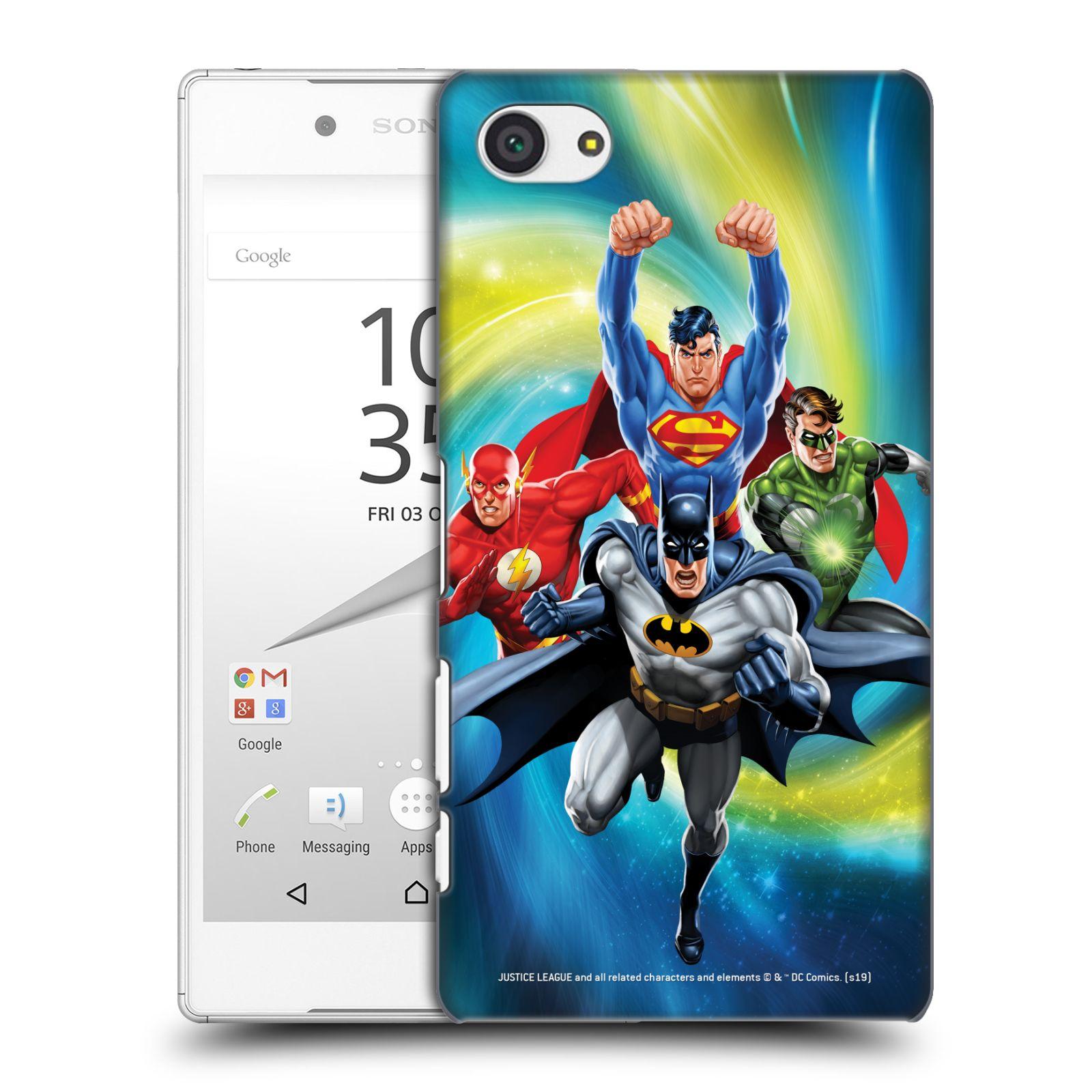 Pouzdro na mobil Sony Xperia Z5 COMPACT - HEAD CASE - DC komix Liga Spravedlivých hrdinové Batman