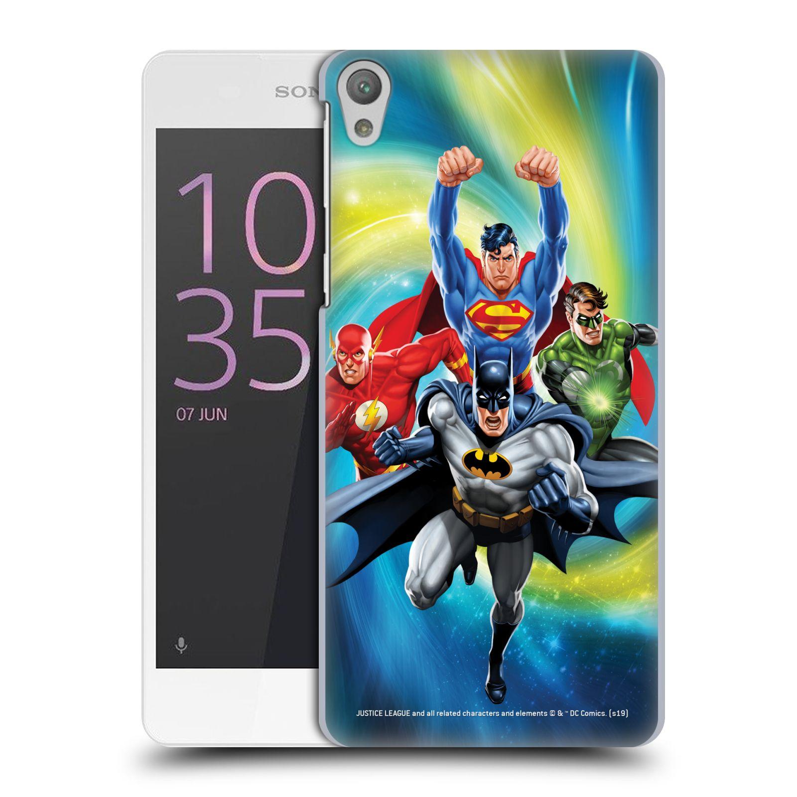 Pouzdro na mobil Sony Xperia E5 - HEAD CASE - DC komix Liga Spravedlivých hrdinové Batman
