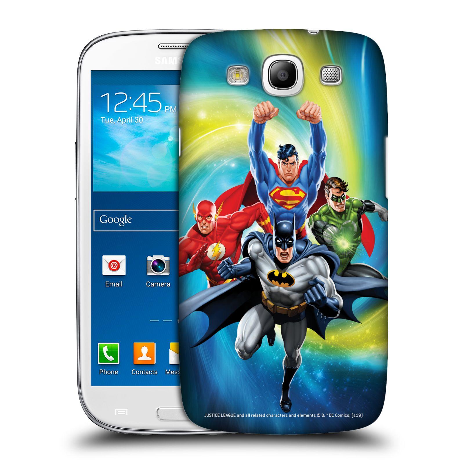 Pouzdro na mobil Samsung Galaxy S3 - HEAD CASE - DC komix Liga Spravedlivých hrdinové Batman