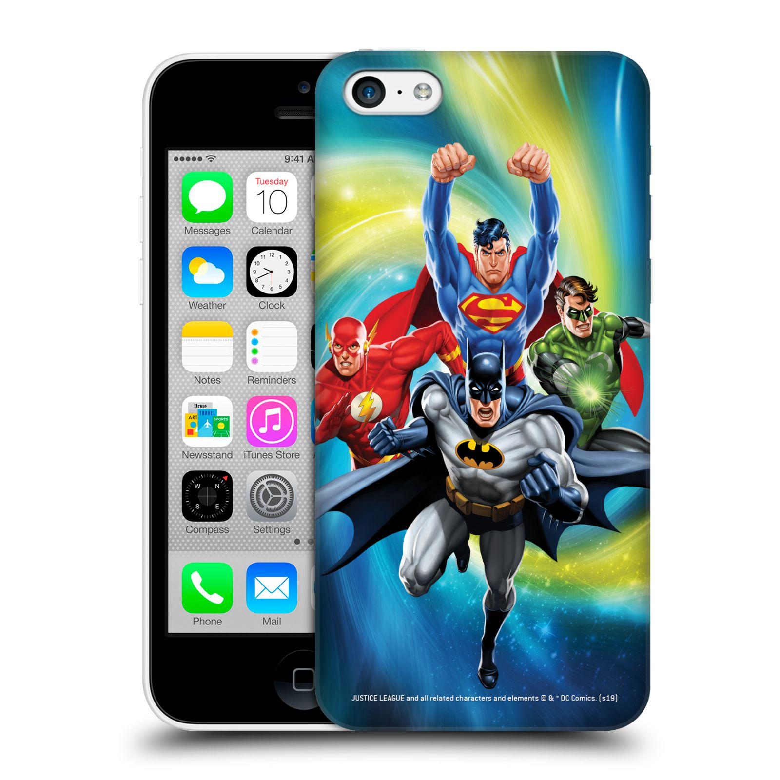 Pouzdro na mobil Apple Iphone 5C - HEAD CASE - DC komix Liga Spravedlivých hrdinové Batman