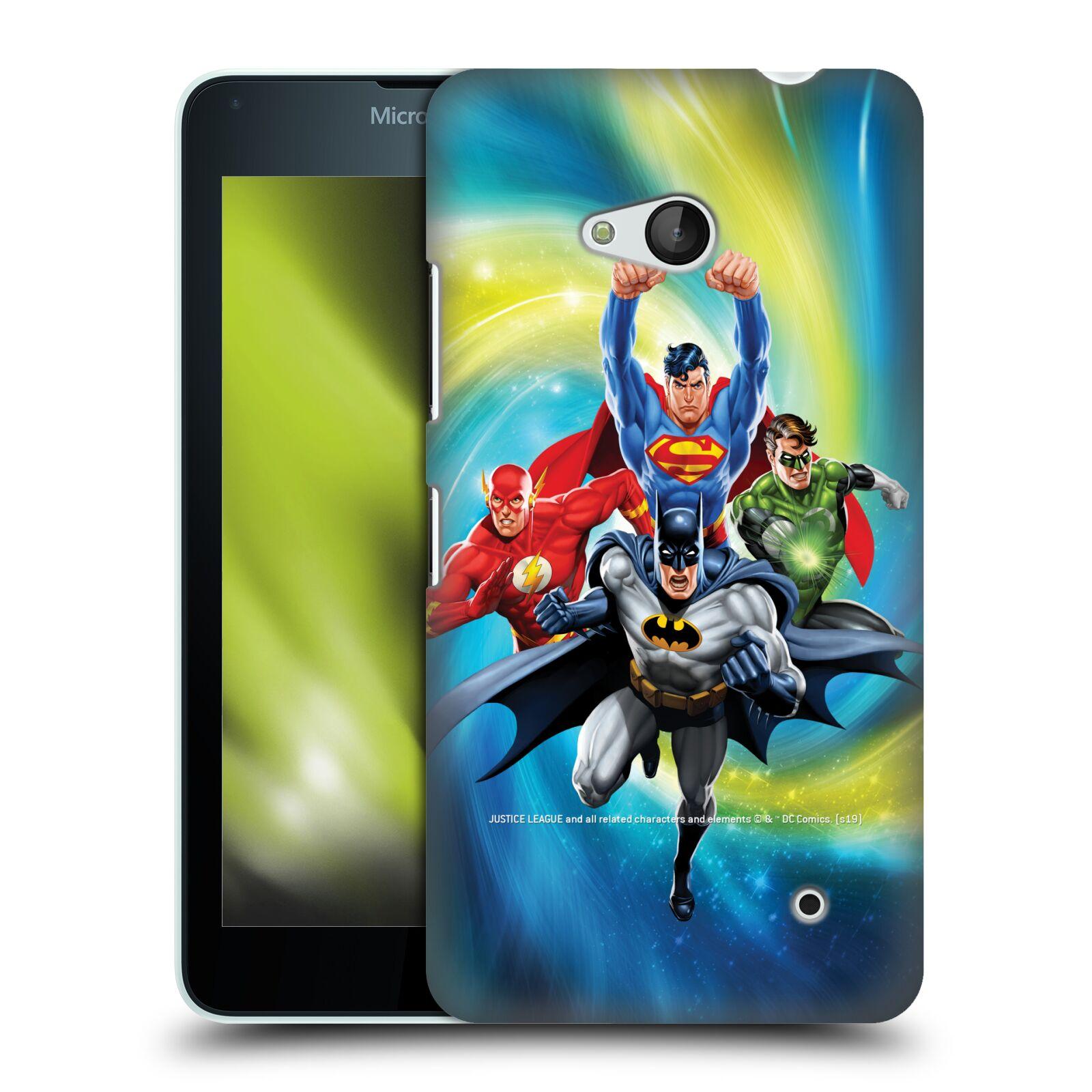 Pouzdro na mobil Microsoft Lumia 640 / 640 DUAL SIM - HEAD CASE - DC komix Liga Spravedlivých hrdinové Batman