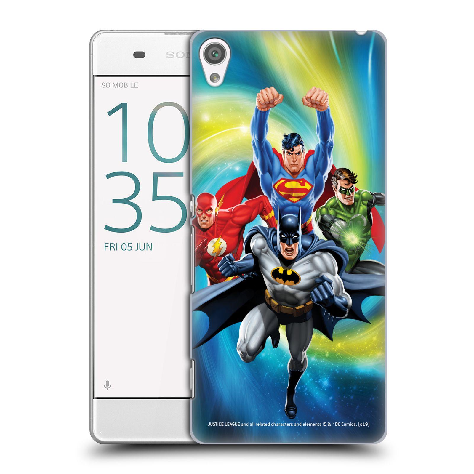Pouzdro na mobil Sony Xperia XA - HEAD CASE - DC komix Liga Spravedlivých hrdinové Batman