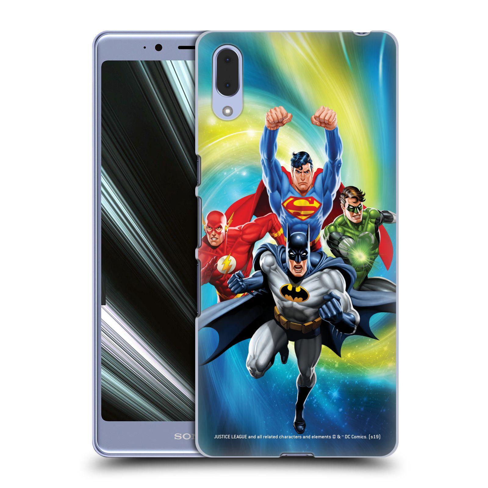 Pouzdro na mobil Sony Xperia L3 - HEAD CASE - DC komix Liga Spravedlivých hrdinové Batman