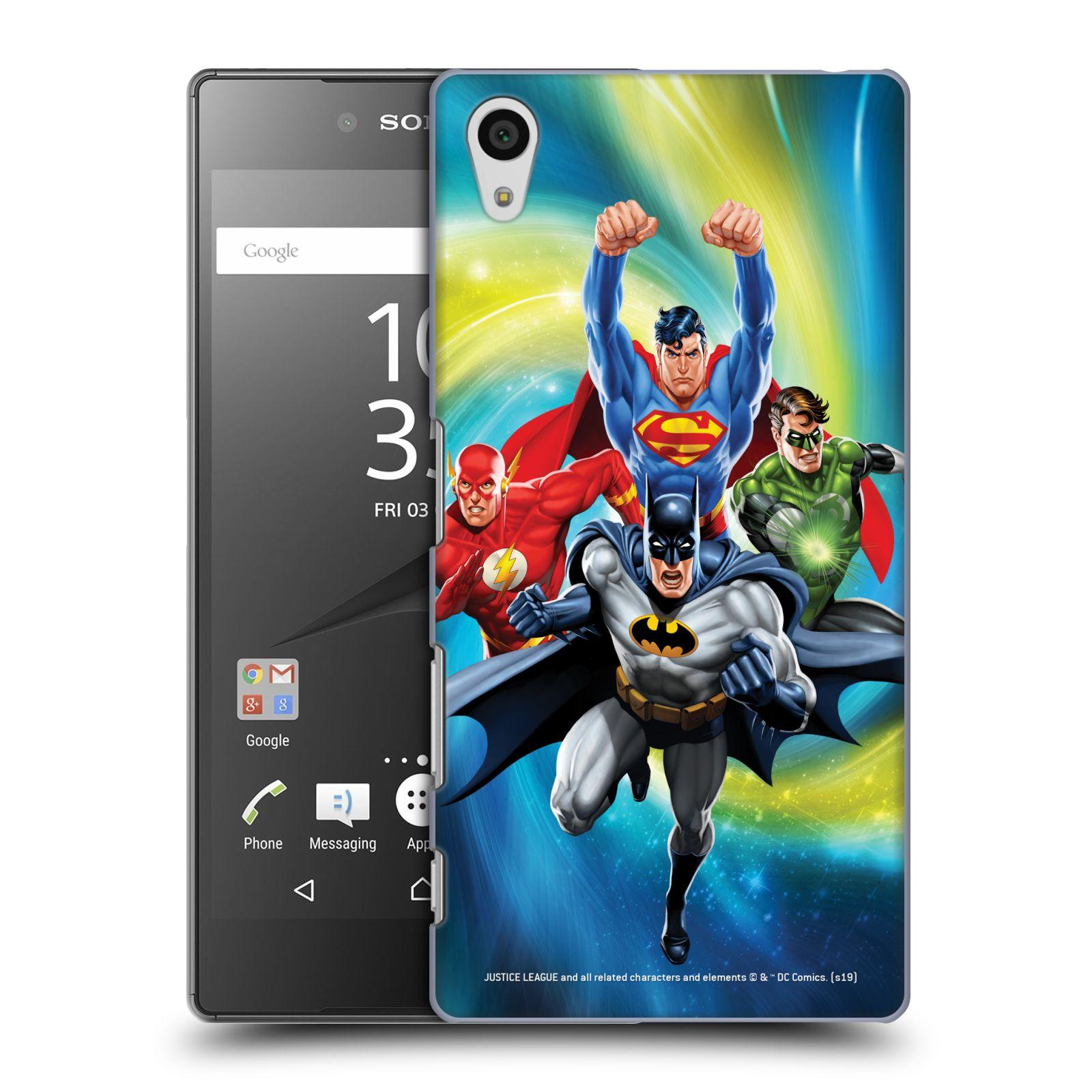 Pouzdro na mobil Sony Xperia Z5 - HEAD CASE - DC komix Liga Spravedlivých hrdinové Batman