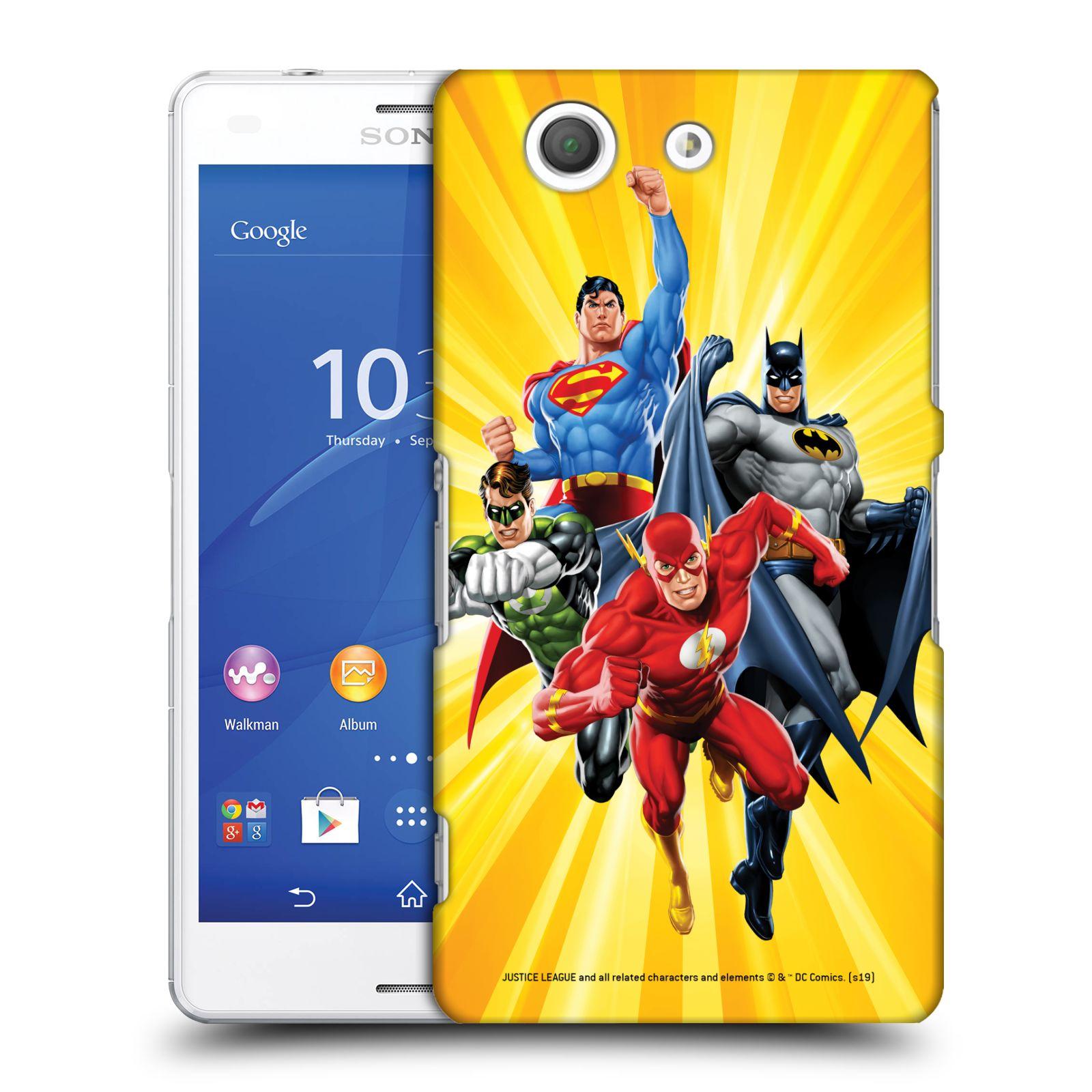 Pouzdro na mobil Sony Xperia Z3 COMPACT - HEAD CASE - DC komix Liga Spravedlivých hrdinové Flash