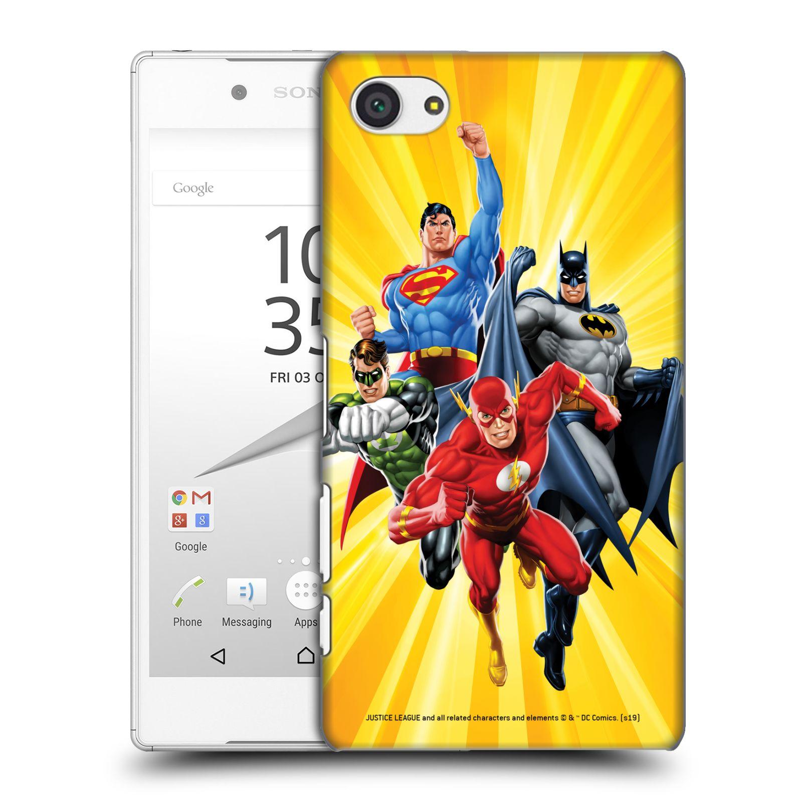 Pouzdro na mobil Sony Xperia Z5 COMPACT - HEAD CASE - DC komix Liga Spravedlivých hrdinové Flash