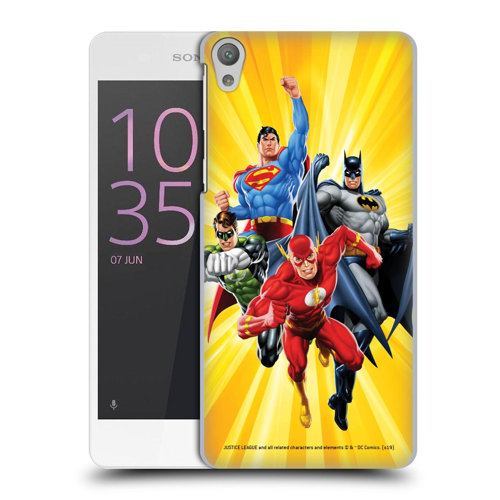 Pouzdro na mobil Sony Xperia E5 - HEAD CASE - DC komix Liga Spravedlivých hrdinové Flash