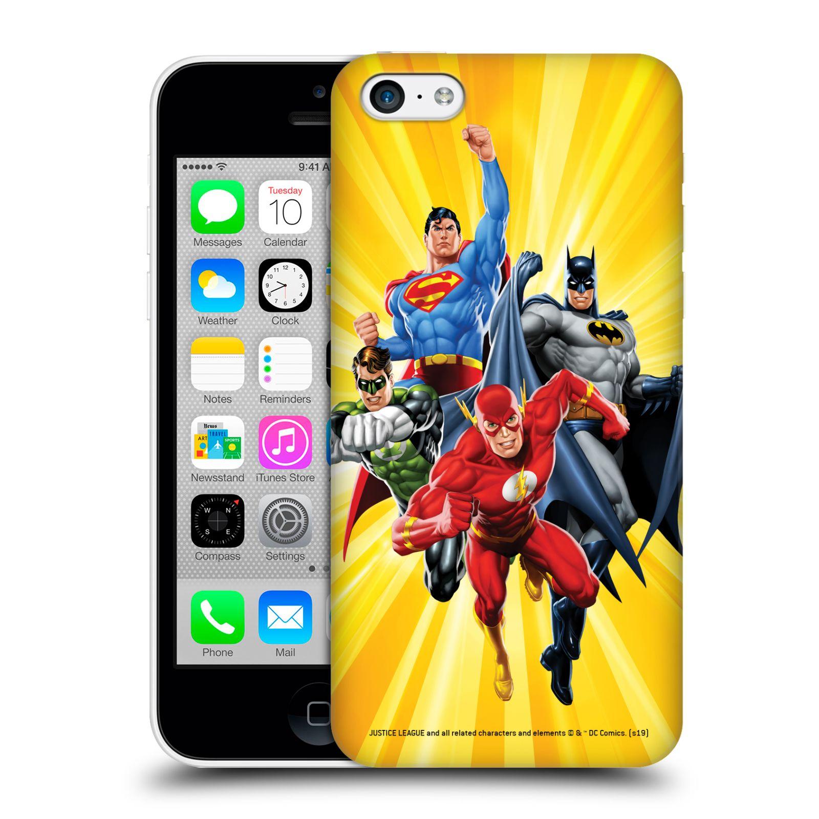 Pouzdro na mobil Apple Iphone 5C - HEAD CASE - DC komix Liga Spravedlivých hrdinové Flash