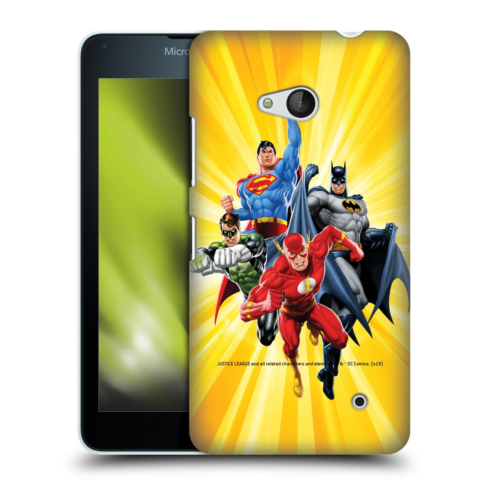 Pouzdro na mobil Microsoft Lumia 640 / 640 DUAL SIM - HEAD CASE - DC komix Liga Spravedlivých hrdinové Flash