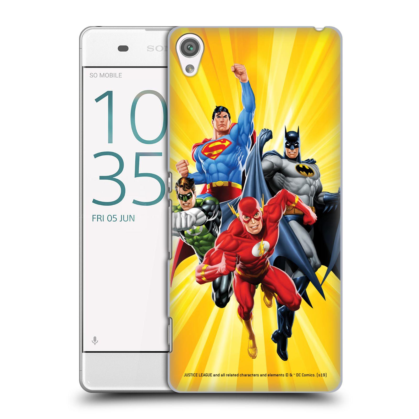 Pouzdro na mobil Sony Xperia XA - HEAD CASE - DC komix Liga Spravedlivých hrdinové Flash