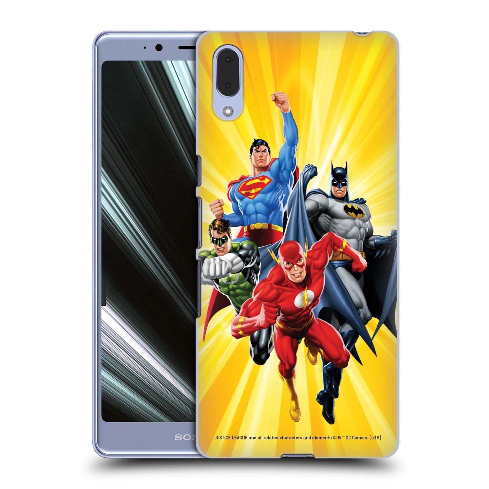 Pouzdro na mobil Sony Xperia L3 - HEAD CASE - DC komix Liga Spravedlivých hrdinové Flash