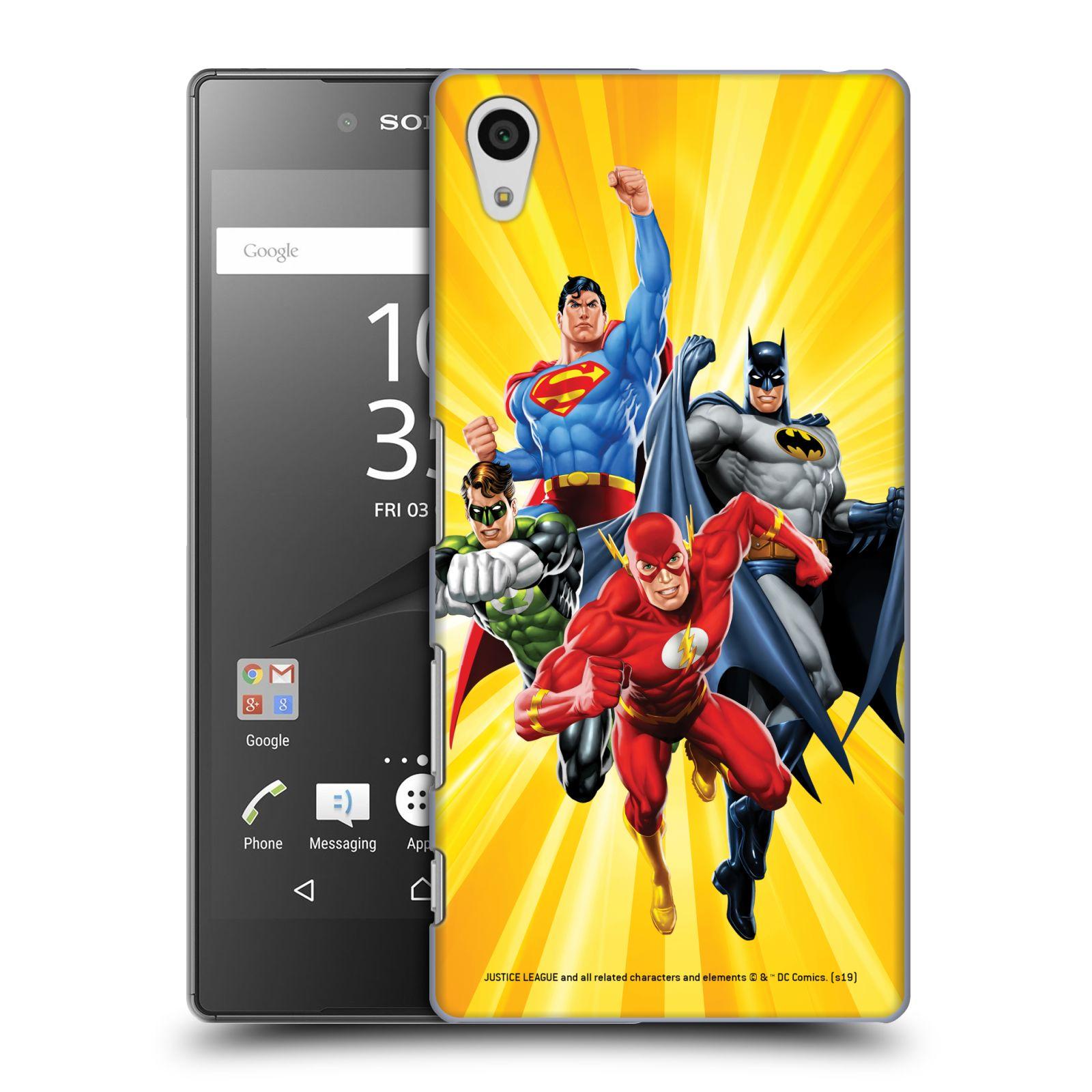 Pouzdro na mobil Sony Xperia Z5 - HEAD CASE - DC komix Liga Spravedlivých hrdinové Flash