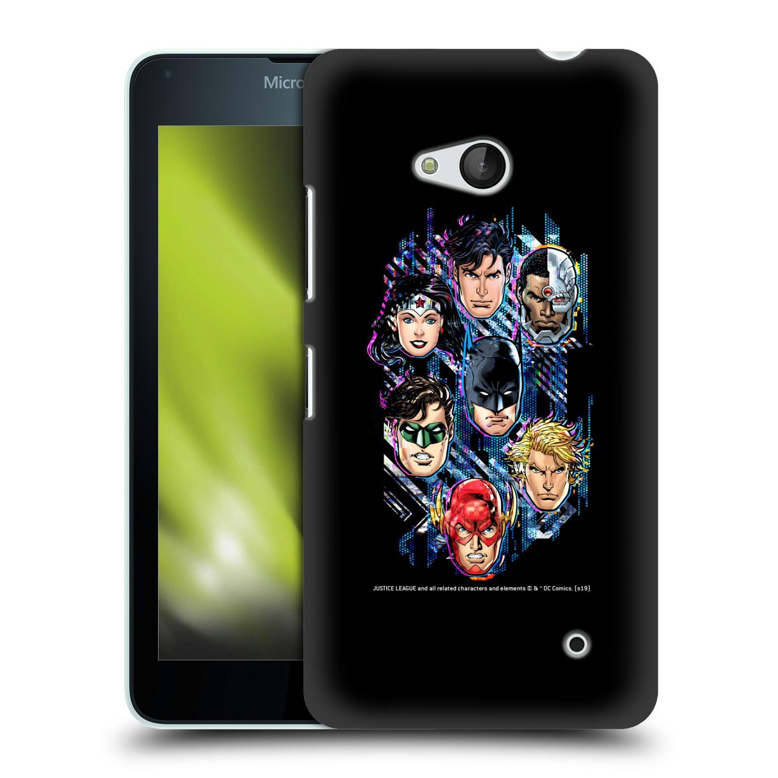 Pouzdro na mobil Microsoft Lumia 640 / 640 DUAL SIM - HEAD CASE - DC komix Liga Spravedlivých tváře
