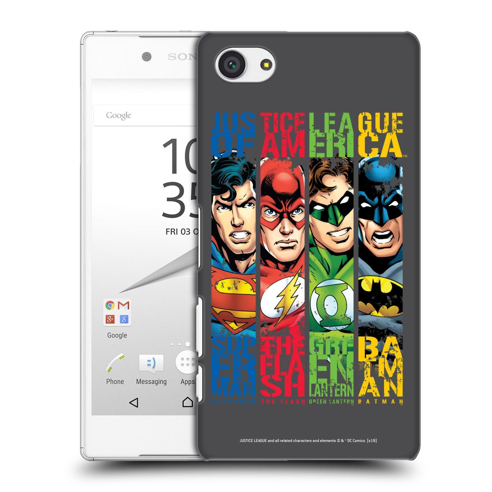 Pouzdro na mobil Sony Xperia Z5 COMPACT - HEAD CASE - DC komix Liga Spravedlivých hrdinové