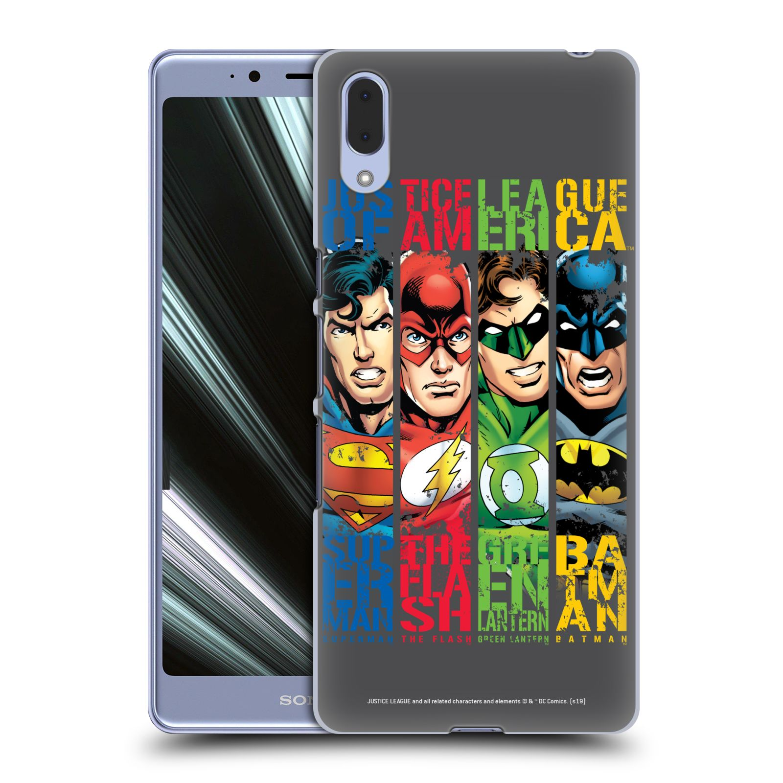 Pouzdro na mobil Sony Xperia L3 - HEAD CASE - DC komix Liga Spravedlivých hrdinové