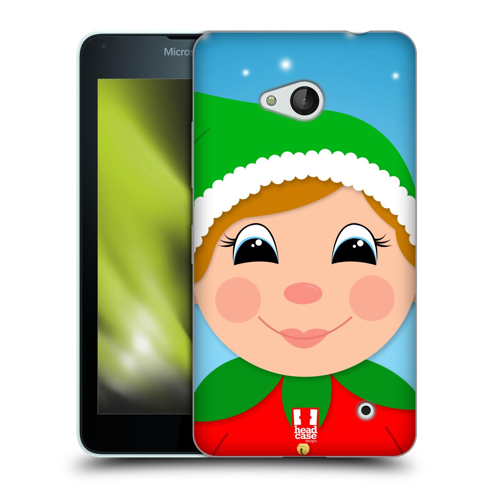 HEAD CASE silikonový obal na mobil Microsoft / Nokia Lumia 640 / Lumia 640 DUAL vzor Vánoční tváře kreslené ELF