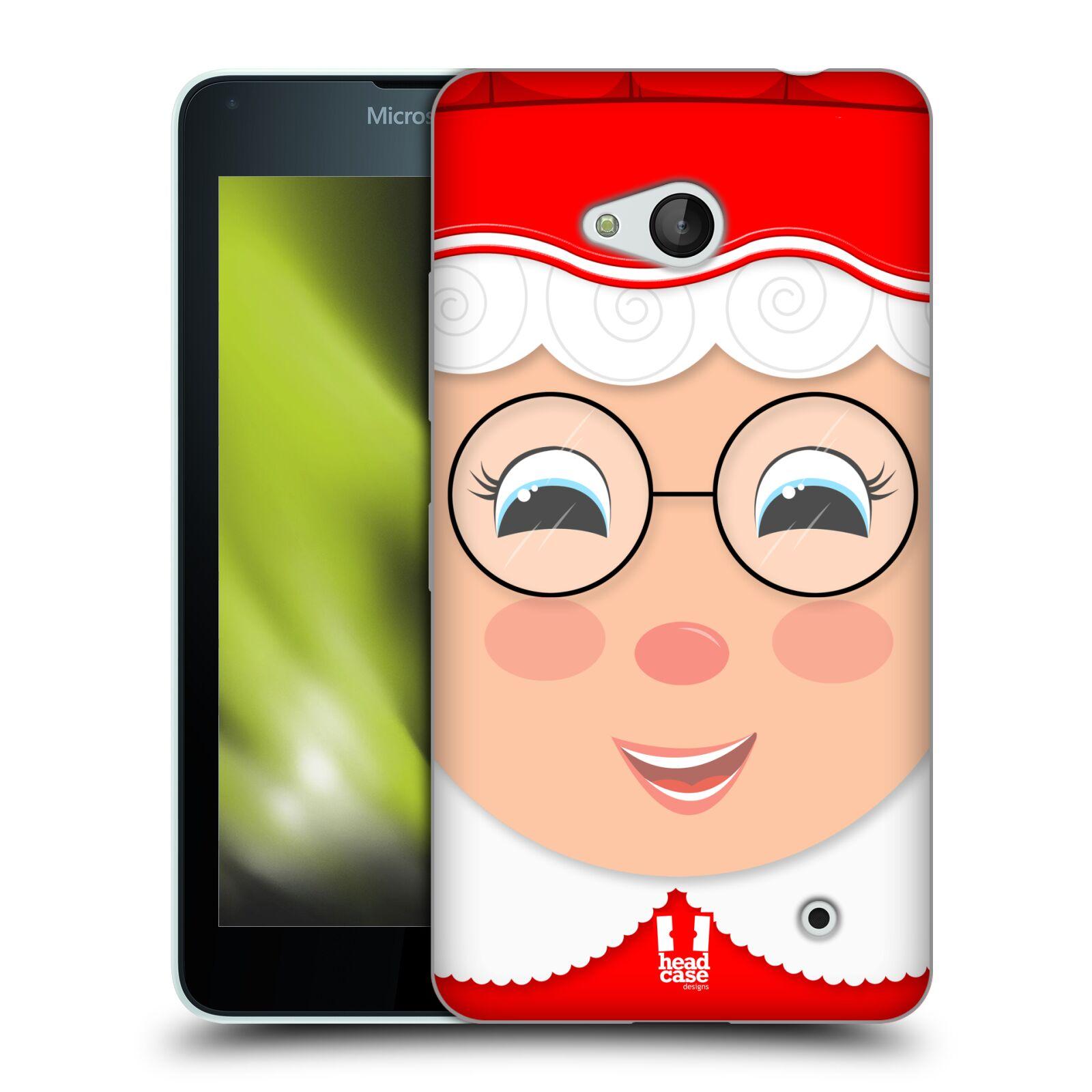 HEAD CASE silikonový obal na mobil Microsoft / Nokia Lumia 640 / Lumia 640 DUAL vzor Vánoční tváře kreslené PANÍ CLAUSOVÁ