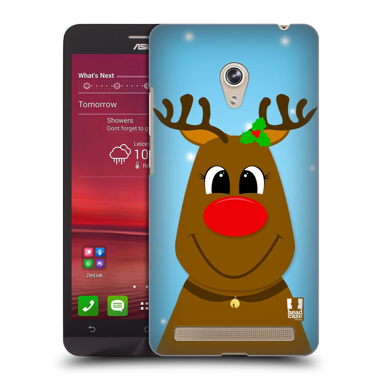 HEAD CASE plastový obal na mobil Asus Zenfone 6 vzor Vánoční tváře kreslené SOB RUDOLF