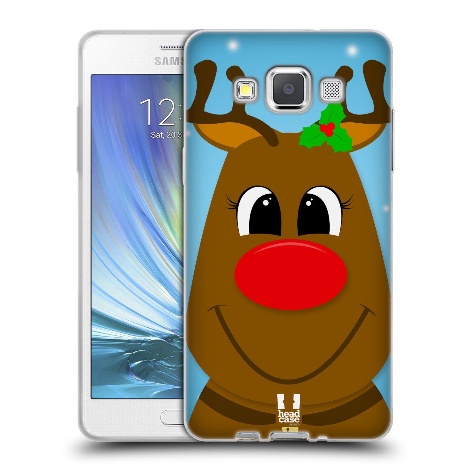 HEAD CASE silikonový obal na mobil Samsung Galaxy A5 vzor Vánoční tváře kreslené SOB RUDOLF