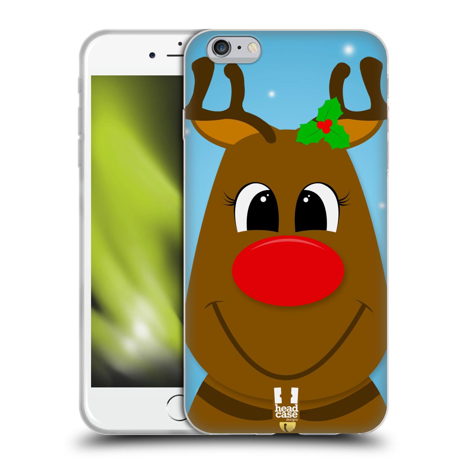 HEAD CASE silikonový obal na mobil Apple Iphone 6 PLUS/ 6S PLUS vzor Vánoční tváře kreslené SOB RUDOLF