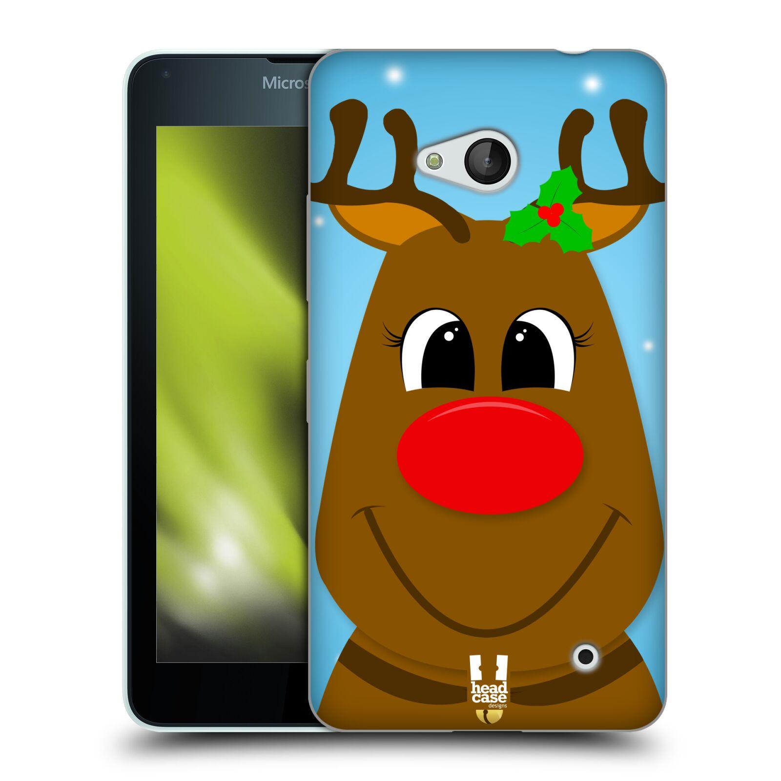 HEAD CASE silikonový obal na mobil Microsoft / Nokia Lumia 640 / Lumia 640 DUAL vzor Vánoční tváře kreslené SOB RUDOLF