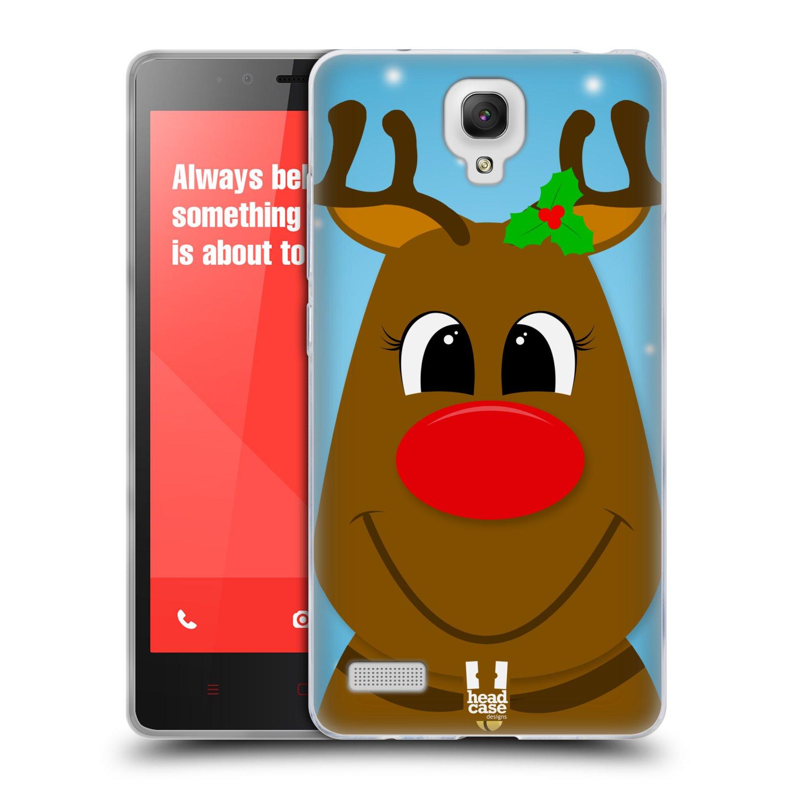 HEAD CASE silikonový obal na mobil XIAOMI REDMI NOTE vzor Vánoční tváře kreslené SOB RUDOLF