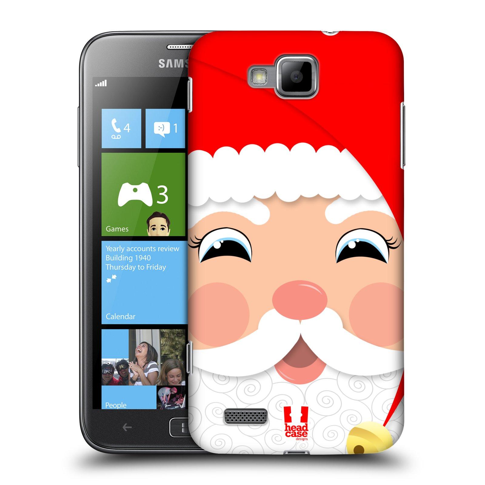 HEAD CASE plastový obal na mobil Samsung ATIV S vzor Vánoční tváře kreslené SANTA CLAUS