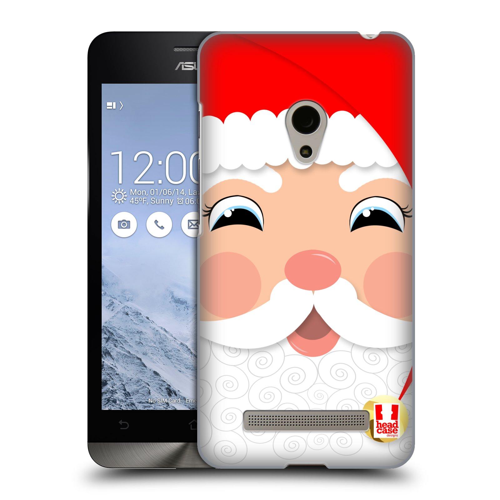 HEAD CASE plastový obal na mobil Asus Zenfone 5 vzor Vánoční tváře kreslené SANTA CLAUS