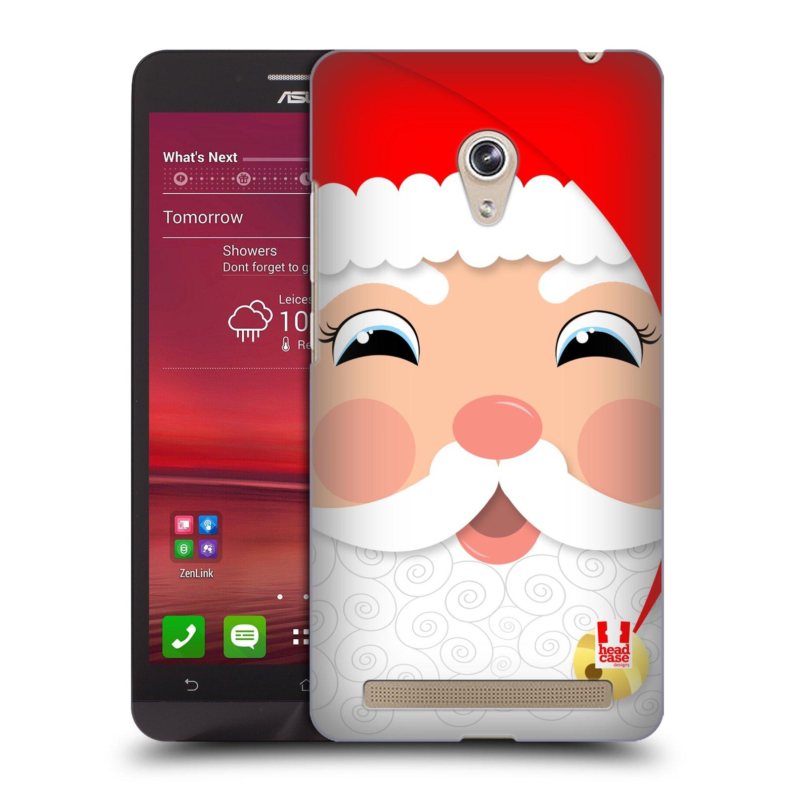 HEAD CASE plastový obal na mobil Asus Zenfone 6 vzor Vánoční tváře kreslené SANTA CLAUS