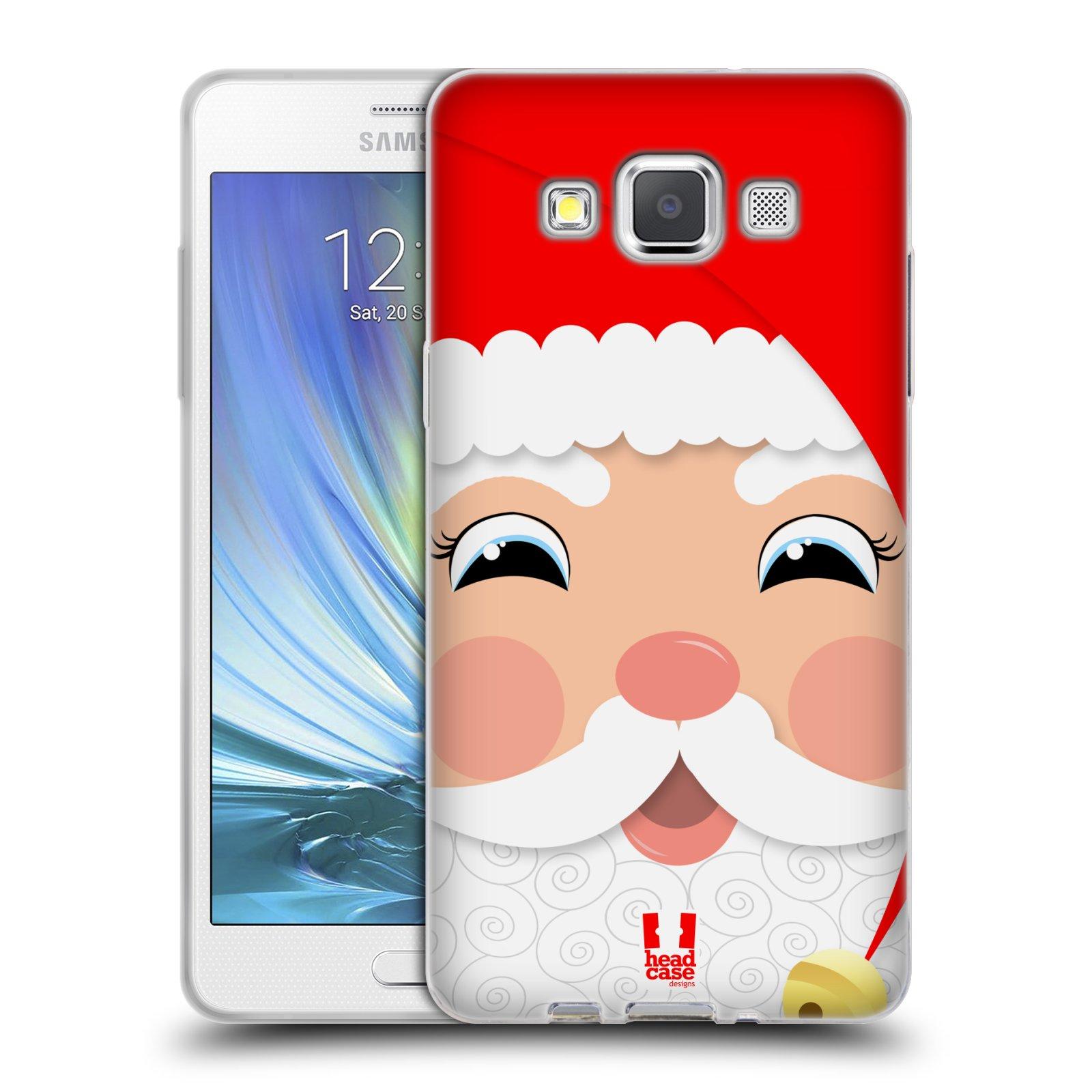 HEAD CASE silikonový obal na mobil Samsung Galaxy A5 vzor Vánoční tváře kreslené SANTA CLAUS