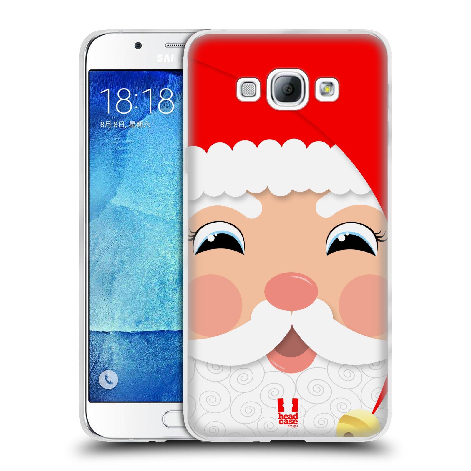 HEAD CASE silikonový obal na mobil Samsung Galaxy A8 vzor Vánoční tváře kreslené SANTA CLAUS