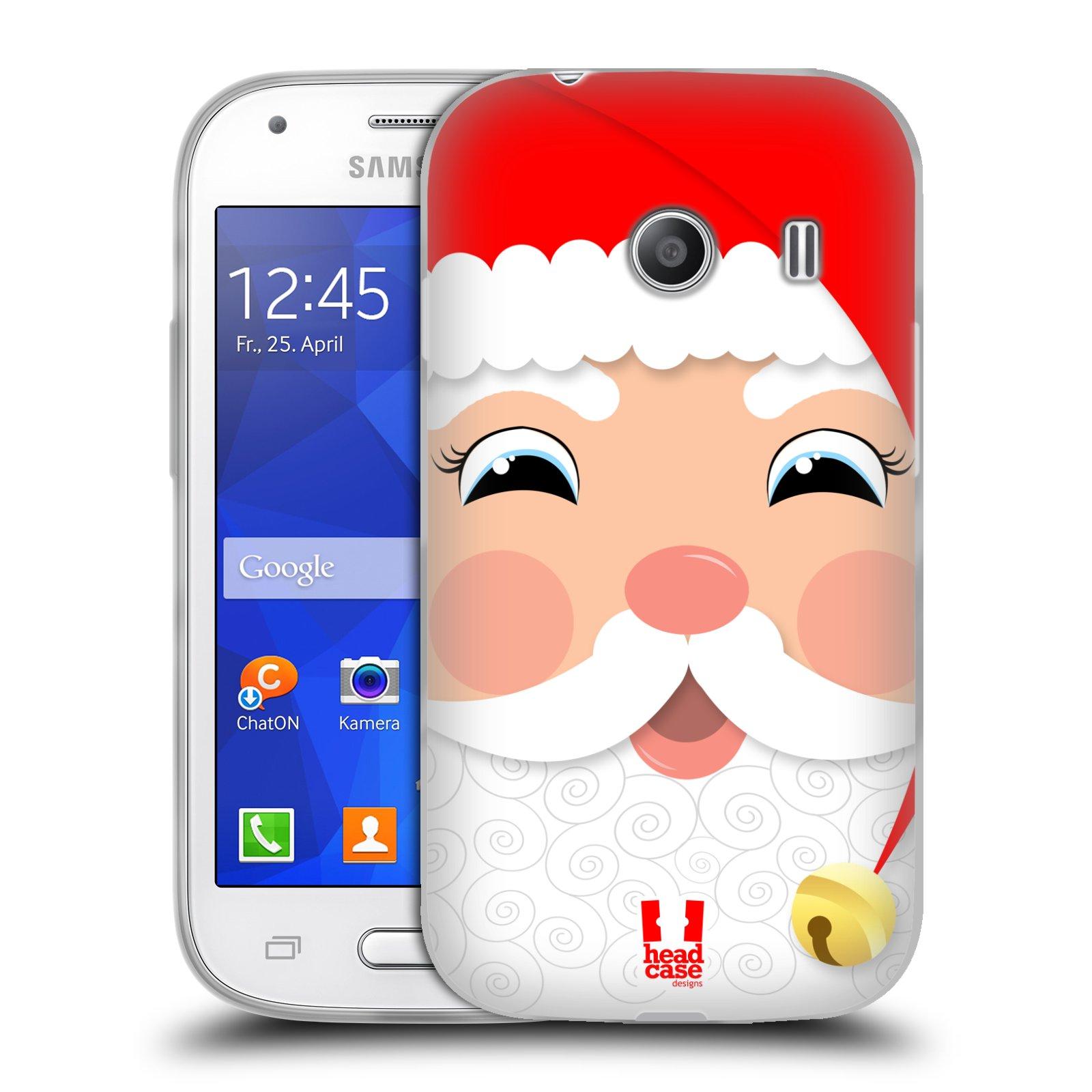 HEAD CASE silikonový obal na mobil Samsung Galaxy Ace Style (G310) vzor Vánoční tváře kreslené SANTA CLAUS