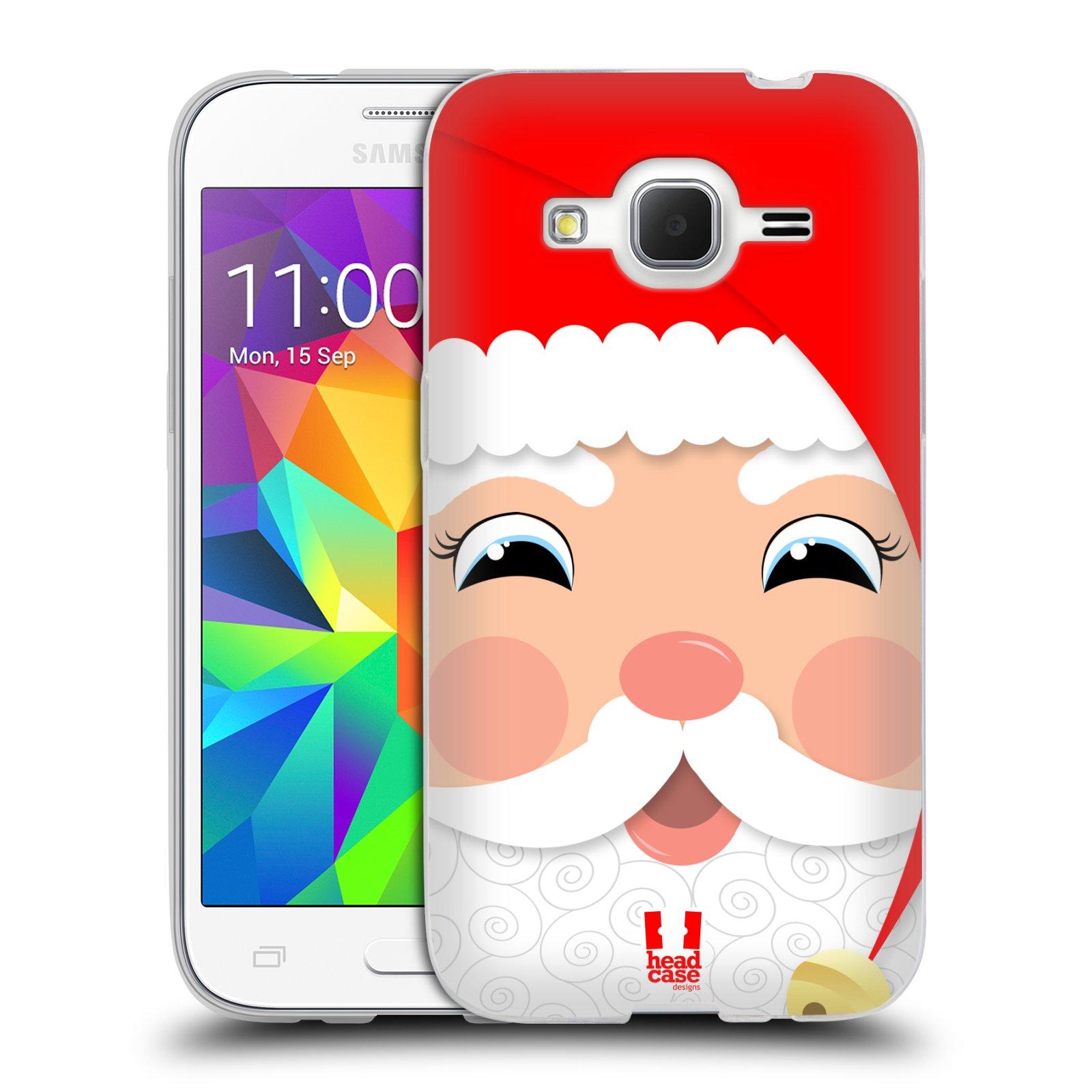 HEAD CASE silikonový obal na mobil Samsung Galaxy Core Prime (G360) vzor Vánoční tváře kreslené SANTA CLAUS
