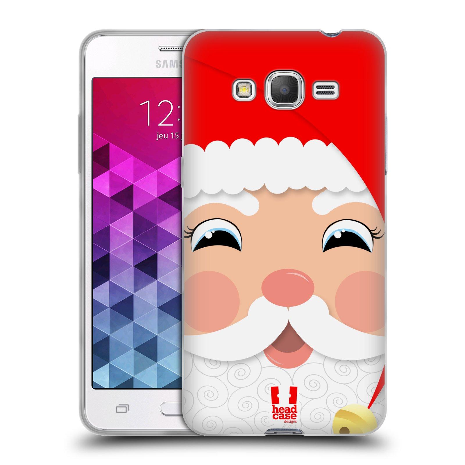 HEAD CASE silikonový obal na mobil Samsung Galaxy GRAND PRIME vzor Vánoční tváře kreslené SANTA CLAUS