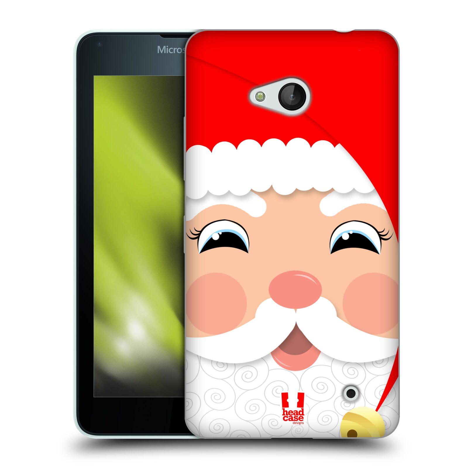 HEAD CASE silikonový obal na mobil Microsoft / Nokia Lumia 640 / Lumia 640 DUAL vzor Vánoční tváře kreslené SANTA CLAUS