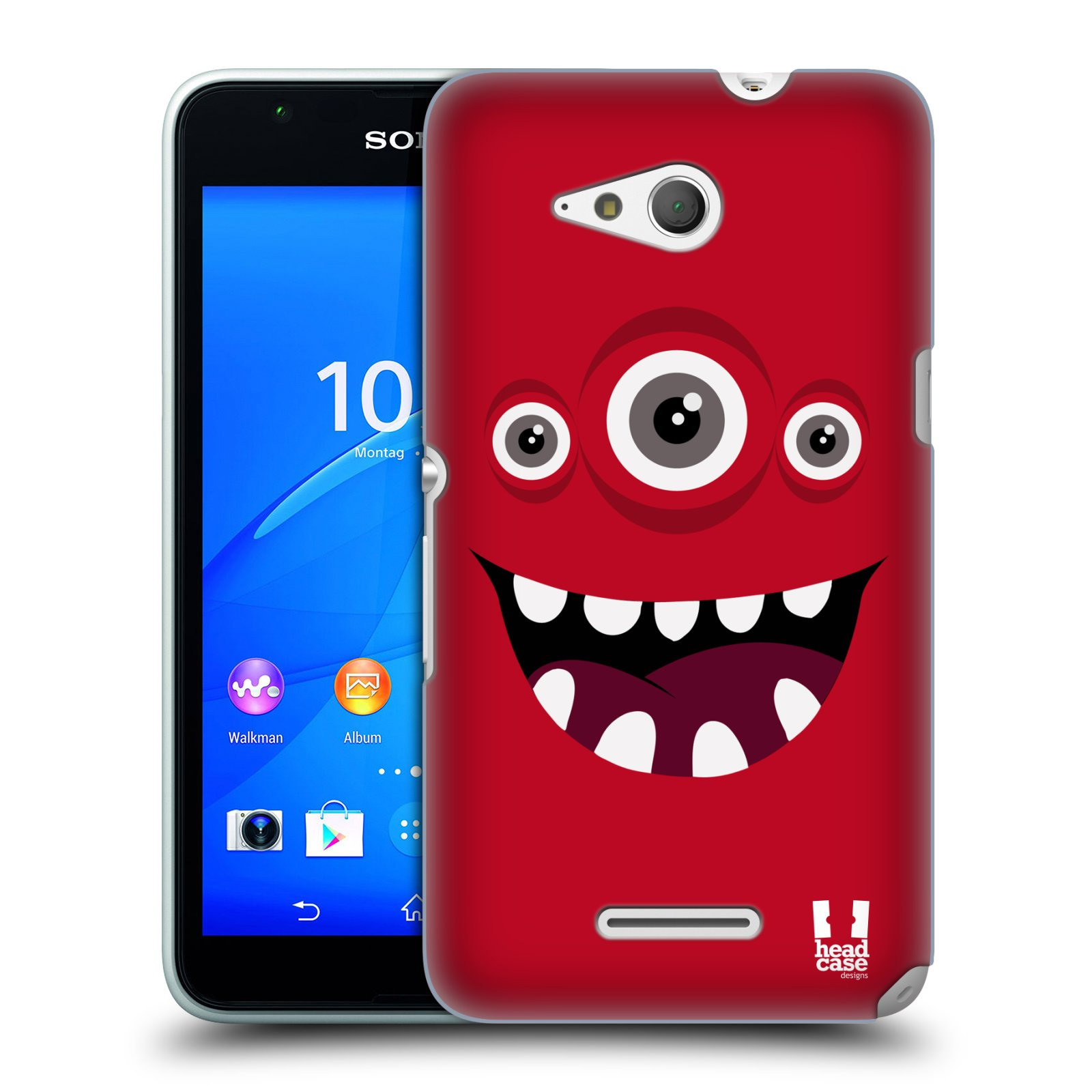 HEAD CASE DESIGNS JOLLY MONSTERS HARD BACK CASE FOR SONY XPERIA E4G
