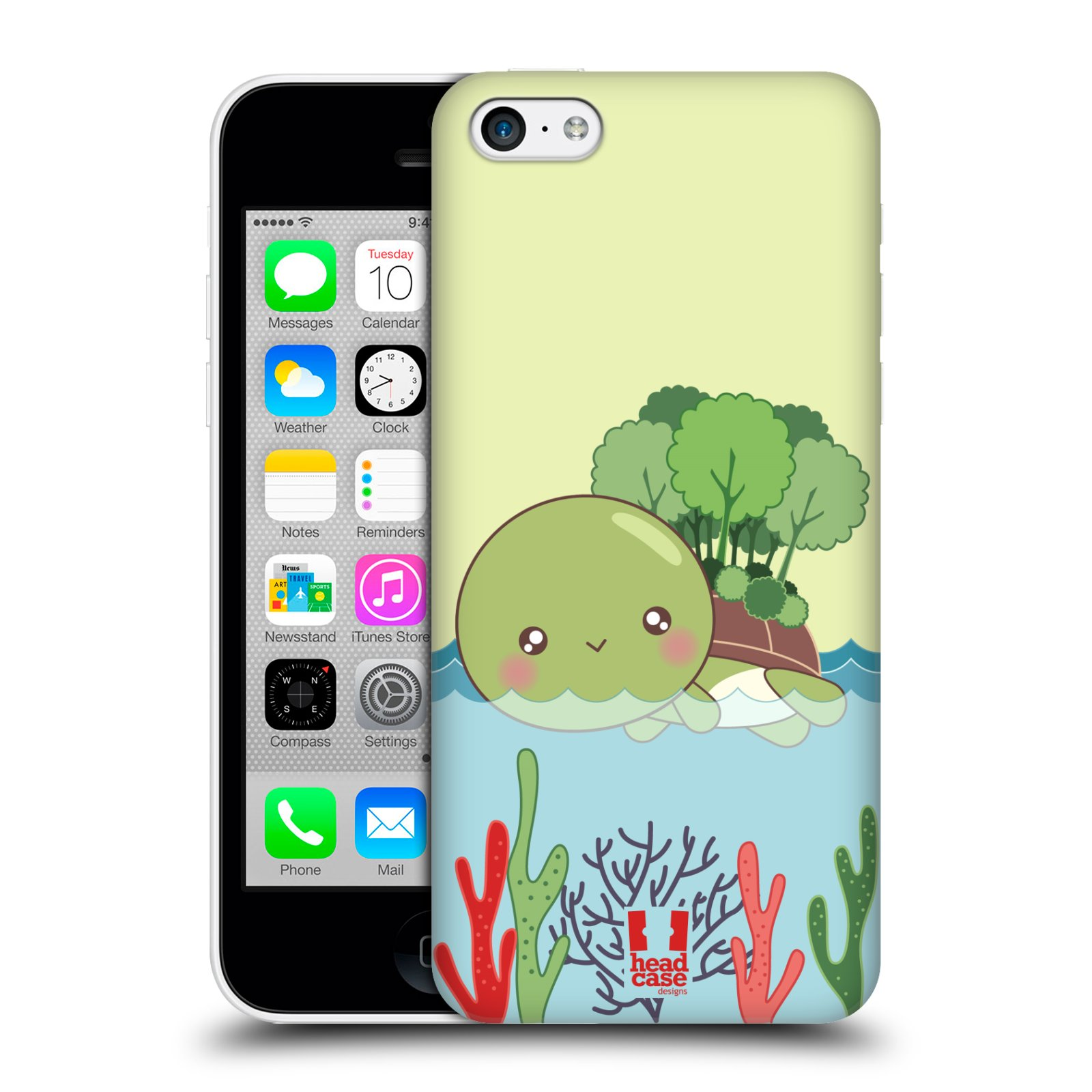 HEAD CASE DESIGNS KAWAII TURTLES HARD BACK CASE FOR APPLE iPHONE 5C