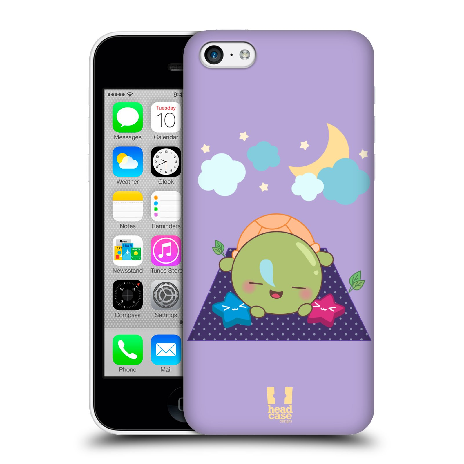 HEAD-CASE-DESIGNS-KAWAII-TURTLE-PROTECTIVE-BACK-CASE-COVER-FOR-APPLE-iPHONE-5C