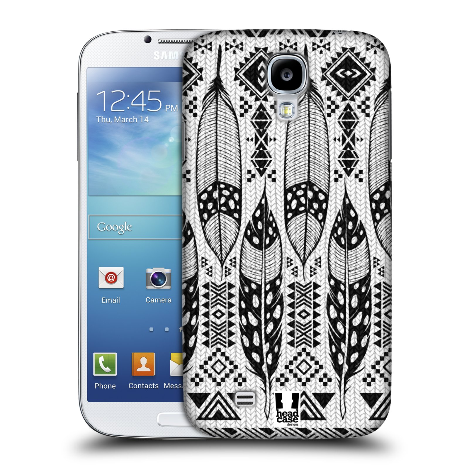 HEAD CASE DESIGNS BNW KNITTED PRINTS COLLECTION CASE FOR SAMSUNG GALAXY S4 I9500