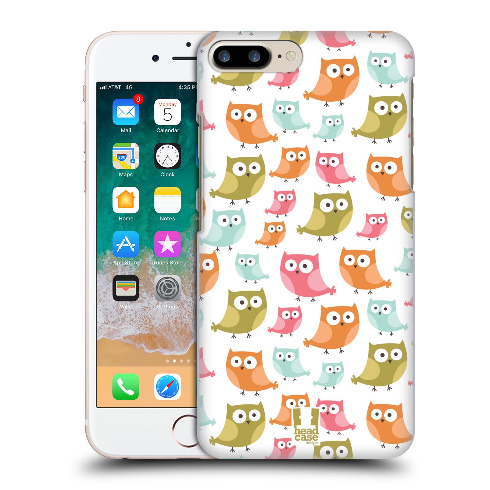 HEAD CASE plastový obal na mobil Apple Iphone 7 PLUS vzor Malé roztomilé sovičky barevná kombinace